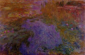 Claude Oscar Monet : The Water-Lily Pond XI