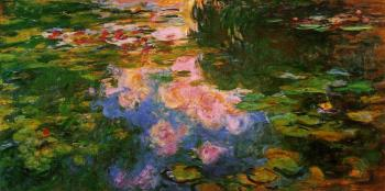 Claude Oscar Monet : The Water-Lily Pond XIII