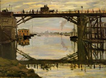 Claude Oscar Monet : The Wooden Bridge