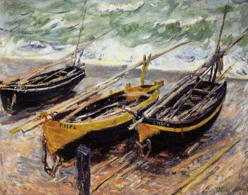 Claude Oscar Monet : Three Fishing Boats