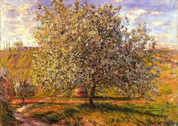 Claude Oscar Monet : Tree in Flower near Vetheuil