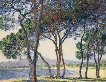 Claude Oscar Monet : Trees by the Seashore at Antibes