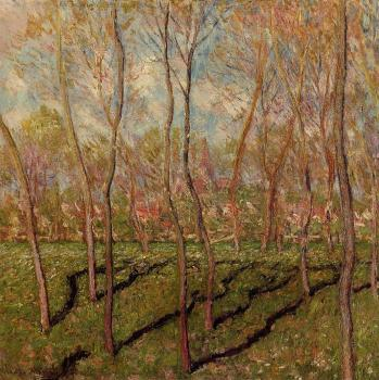 Claude Oscar Monet : Trees in Winter, View of Bennecourt