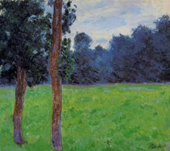Claude Oscar Monet : Two Trees in a Meadow