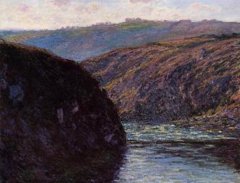 Claude Oscar Monet : Valley of the Creuse, Afternoon Sunlight
