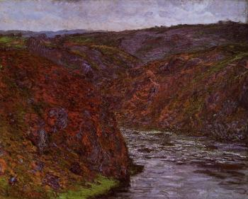 Claude Oscar Monet : Valley of the Creuse, Grey Sky
