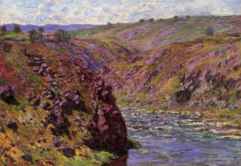 Claude Oscar Monet : Valley of the Creuse, Sunlight Effect