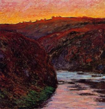 Claude Oscar Monet : Valley of the Creuse, Sunset