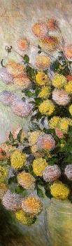 Claude Oscar Monet : Vase of Dahlias