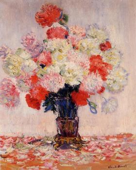 Claude Oscar Monet : Vase of Peonies