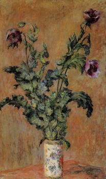 Claude Oscar Monet : Vase of Poppies