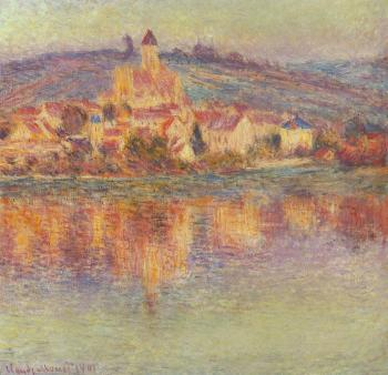 Claude Oscar Monet : Vetheuil at Sunset