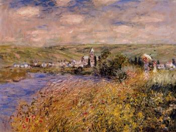 Claude Oscar Monet : Vetheuil Seen from Ile Saint Martin