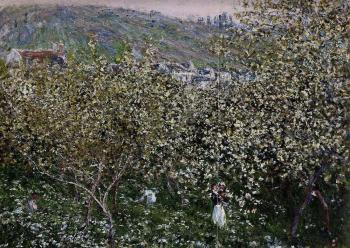 Claude Oscar Monet : Vetheuil, Flowering Plum Trees
