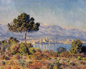 Claude Oscar Monet : View of Antibes from the Notre-Dame