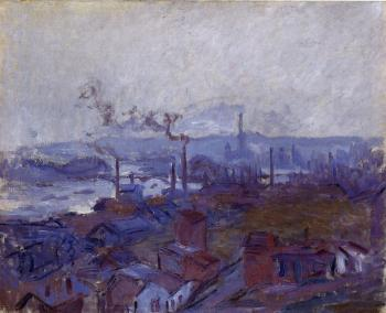 Claude Oscar Monet : View of Rouen from the Cote Sainte-Catherine