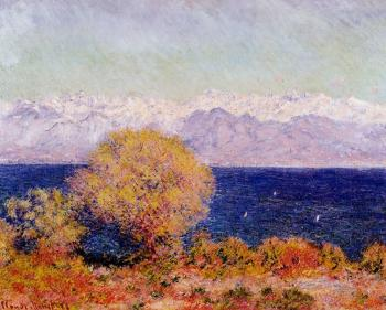 Claude Oscar Monet : View of the Bay and Maritime Alps at Antibes