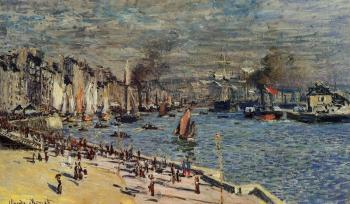 Claude Oscar Monet : View of the Old Outer Harbor at Le Havre