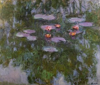 Claude Oscar Monet : Water Lilies XVI