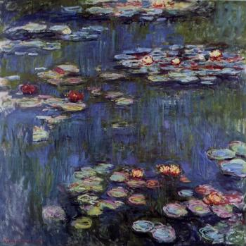 Claude Oscar Monet : Water Lilies XL