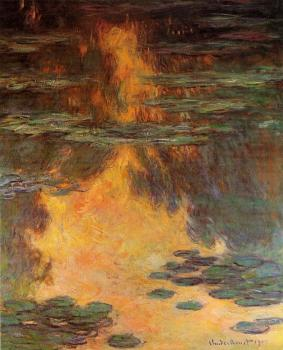 Claude Oscar Monet : Water Lilies LI