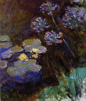 Claude Oscar Monet : Water-Lilies and Agapanthus