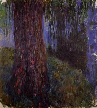 Claude Oscar Monet : Water-Lily Garden with Weeping Willow