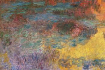 Claude Oscar Monet : Water-Lily Pond, Evening, left panel