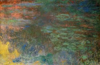 Claude Oscar Monet : Water-Lily Pond, Evening, right panel