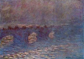 Claude Oscar Monet : Waterloo Bridge, Effect of Sun in the Mist