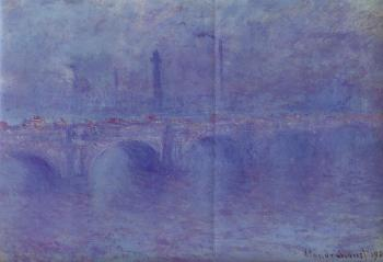 Claude Oscar Monet : Waterloo Bridge, Fog Effect