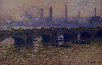 Claude Oscar Monet : Waterloo Bridge, Grey Weather