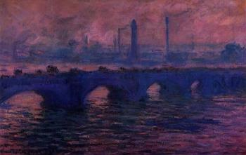 Claude Oscar Monet : Waterloo Bridge, Overcast Weather