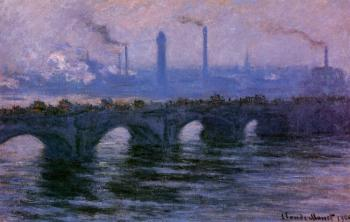 Claude Oscar Monet : Waterloo Bridge, Overcast Weather II