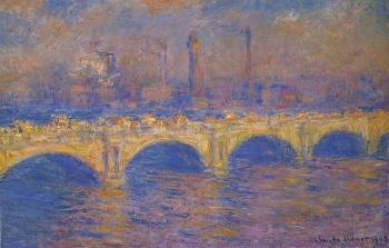 Claude Oscar Monet : Waterloo Bridge, Sunlight Effect