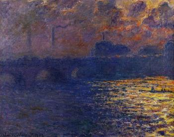 Claude Oscar Monet : Waterloo Bridge, Sunlight Effect II