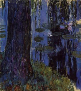 Claude Oscar Monet : Weeping Willow and Water-Lily Pond