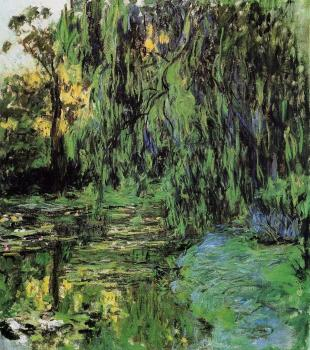 Claude Oscar Monet : Weeping Willow and Water-Lily Pond II