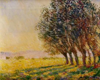 Claude Oscar Monet : Willows at Sunset