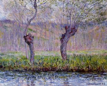 Claude Oscar Monet : Willows in Spring