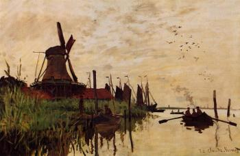 Claude Oscar Monet : Windmill at Zaandam