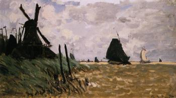 Claude Oscar Monet : Windmill at Zaandam II