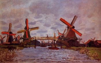 Claude Oscar Monet : Windmills near Zaandam