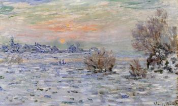 Claude Oscar Monet : Winter on the Seine, Lavacourt