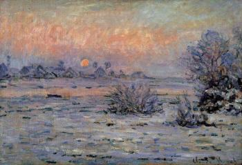 Claude Oscar Monet : Winter Sun, Lavacourt