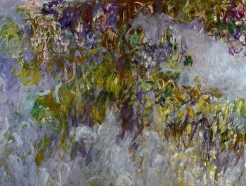 Claude Oscar Monet : Wisteria, left half