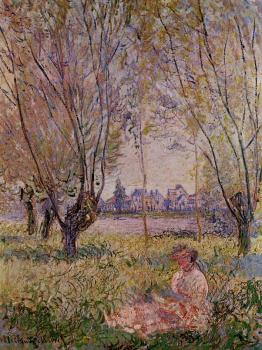 Claude Oscar Monet : Woman Sitting under the Willows