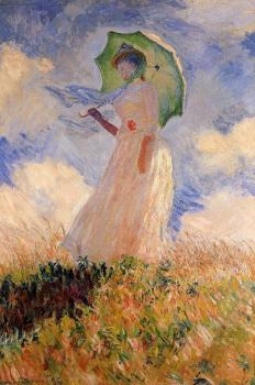 Claude Oscar Monet : Woman with a Parasol II