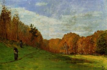 Claude Oscar Monet : Woodbearers in Fontainebleau Forest