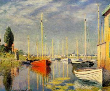 Claude Oscar Monet : Yachts at Argenteuil